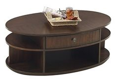 Progressive Furniture P474-15 Metropolitan Oval Castered Lift-Top Cocktail Coffee Table