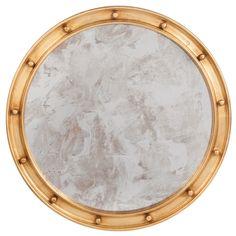 Worlds Away Federal Gold Leaf Mirror $$$