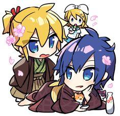 Hatsune Miku, Kaito Shion, Anime Guys, Manhwa, Illustrators, Chibi, Animation, Artist, Cute