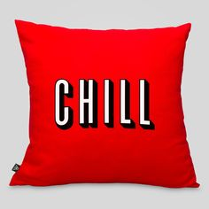 Hey.....what do you feel like doing tonight? 100% Cotton Zippered Pillowcase With Removable Poly Pillow in Red 20 Inches x 20 Inches