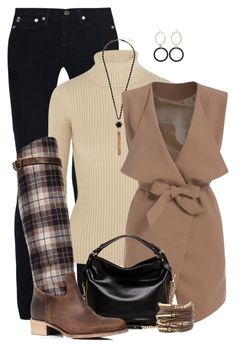 """""""Plaid"""" by derniers ❤ liked on Polyvore featuring AG Adriano Goldschmied, Jacquemus, Faraone Mennella by R.F.M.A.S., GUESS, 2b bebe and Charles David"""