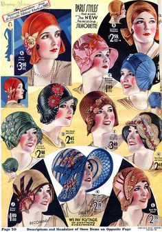 Summer Hats from 1930  http://wearinghistoryblog.com/wp-content/uploads/2013/06/1930hats4.jpg