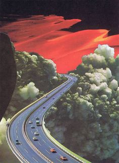"""Saatchi Art Artist Alexandre Coll; Collage, """"Highway to Hell (Postcards from Tomorrow Series) SOLD"""" #art"""