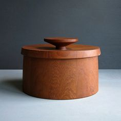 Early Dansk Staved Teak Ice Bucket by Jens by BarkingSandsVintage