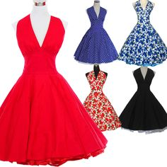 2016 Marilyn Monroe Style Women Polka Dot Dress 50s 60s Robe Vintage Retro Pinup Ball Gown Rockabilly Dress Vestidos Femininos ** More info could be found at the image url.