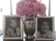 display baby pictures of mom and dad to be