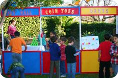 how to build carnival booth for birthday party | How to Throw a Circus Themed Party