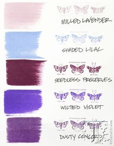 A look at how the new Tim Holtz distress color, Wilted Violet, fits into the color palette.