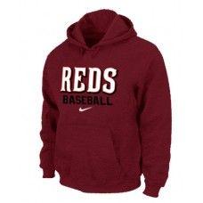 Wholesale Men Fashion Winter Cincinnati Reds Red Baseball Pullover Hoodie_Cincinnati Reds Pullover Hoodie
