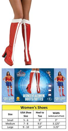 Costumes 52352: Wonder Woman Officially Licensed Costume Boots Large -> BUY IT NOW ONLY: $41.55 on eBay!