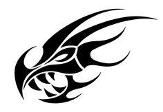 Dragon Head Outline | Tribal Dragon Head by JSHarts