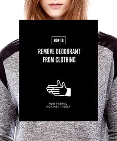 How to remove deodorant stains from clothes remove for How to remove deodorant from shirt