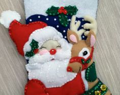 Nativity Completed Handmade Felt Christmas Stocking from