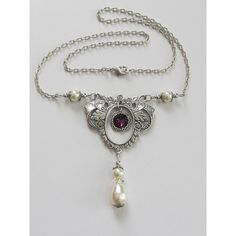 Swarovski Pearl and Crystal Necklace Choker Victorian Jewelry Special... ($25) ❤ liked on Polyvore