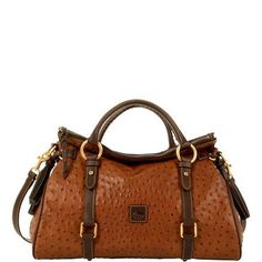 Dooney   Bourke Handbags   Leather   Ostrich   Medium Satchel Cute Handbags 85d78b18d73d6