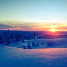 Wau, mikä auringonnousu Levillä. INSTAGRAM #BreakLevi @BreakLevi  Levi Ski Resort, Finland, Lapland Break Sokos Hotel Levi