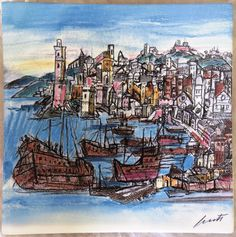 Genova (Emanuele Luzzati - Genova,1921 - 2007)