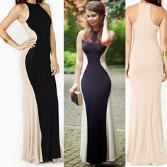Sexy Women Sleeveless Long Formal Ball Cocktail Prom Party Dress Evening Gown #Unbranded #AsymmetricalHem #Clubwear