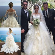 Resultado de imagen para vestido de novia: con onditas