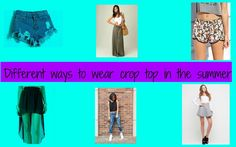 Different ways to wear crop top in the summer
