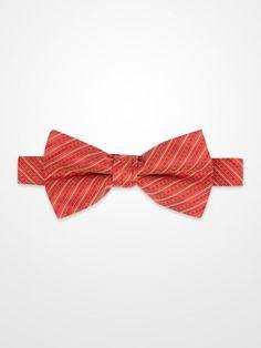 Lord West Red & Gold Stripe Bow Tie #menswear #mens #dapper #fashion #formalwear #tuxedo #wedding #prom #party