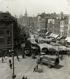 Hahnemuhle PHOTO RAG Fine Art Paper (other products available) - October A general view of Aldgate Hay Market. (Photo by Topical Press Agency/Getty Images) - Image supplied by Fine Art Storehouse - Fine Art Print on Paper made in the UK Victorian London, Vintage London, Old London, East London, London City, 1920 London, Vintage Pictures, Old Pictures, Old Photos