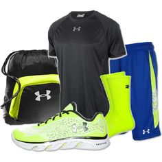 """""""Men's Under Armour Spine Lazer Running Shoes"""" by finishline on Polyvore"""