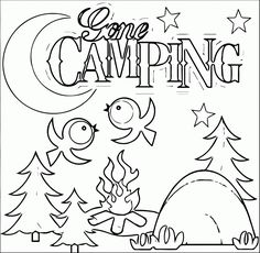 Camping- Coloring Pages