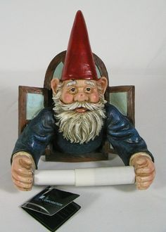 Gnome toilet paper holder. I. must. have. this.