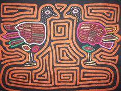 Kuna Tribe Gossip Bird Mola Panama San Blas-12.58686