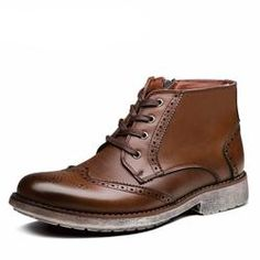 Brogue Style Men's Ankle Boots