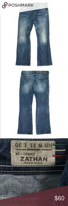 29c1b440e73 Diesel Mens Jeans Zathan Boot Cut Button Fly Diesel Mens Jeans Size 31 x 30  Zathan