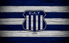 Download wallpapers Talleres Cordoba, 4k, Superliga, logo, AAAJ, Argentina, soccer, Talleres Cordoba FC, football club, wooden texture, FC Talleres Cordoba