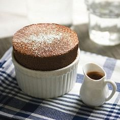 Chocolate and Passion fruit Soufflé