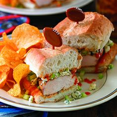 Buffalo Chicken Breast Sandwiches