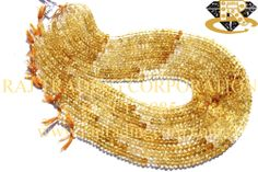 Citrine Faceted Roundel (Shaded) (Quality A+) Shape: Roundel Faceted Length: 36 cm Weight Approx: 13 to 15 Grms. Size Approx: 5 to 5.5 mm Price $24.00 Each Strand