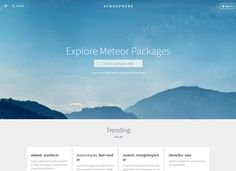 Atmosphere - Minimal Design Website