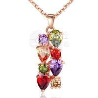 Barbara丨AAA Multicolor Cubic Zircon 18K Gold Plated Pendants Necklaces