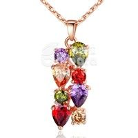 Barbara丨AAA Multicolor Cubic Zircon 18K Gold Plated Pendants Necklaces