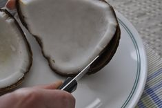 How to get coconut meat out of the shell. This works very well! :)
