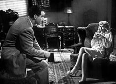 """Fred MacMurray and Barbara Stanwyck in Billy Wilder's """"Double Indemnity""""."""