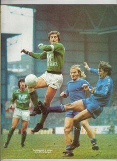 Jean-Michel Larque of St Etienne in St Etienne, 1975, Vintage Football, Jean Michel, Football Soccer, Ballet, Galo, Fictional Characters, Simple