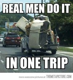 How real men do it…