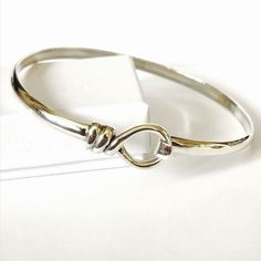 Sterling Silver Rope Knot fastening Bangle | eBay