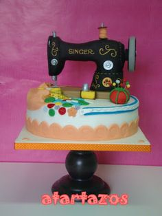 atartazos: tarta de maquina de coser