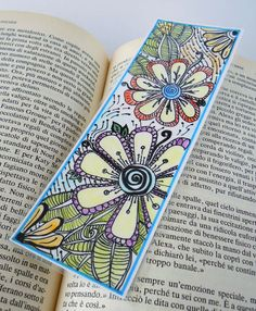Original Zendoodle  Zentangle Art Bookmark by valeriatelier, $10.00
