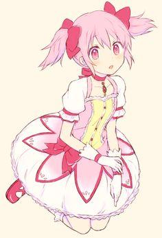 """""""hi-ru-ko: 「まどか」/「ふち」のイラスト [pixiv] """" #anime"""