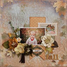 """""""Fall"""" a design team project using the November kit from C'est Magnifique"""
