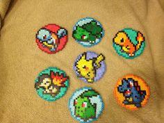 Pokemon Coaster - Perler Bead Sprite w/Cork Back, Your Choice of Pokemon on Etsy, $6.00