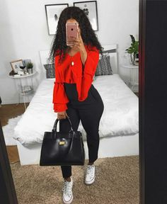 Mode Outfits, Fall Outfits, Summer Outfits, Fashion Outfits, Womens Fashion, Cute Casual Outfits, Simple Outfits, Stylish Outfits, Black Girl Fashion
